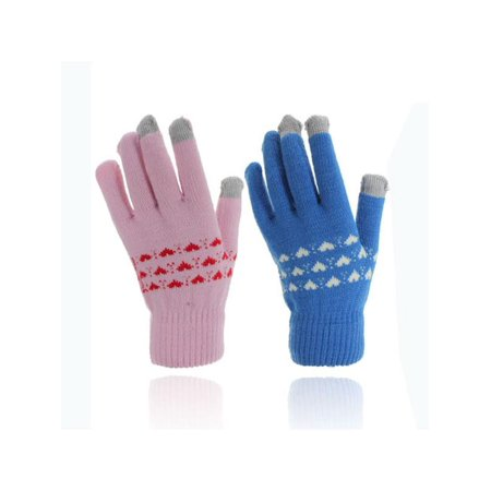 1 Pair Magic Adult Men Women Winter Warm Windproof Anti-slip Thermal Knit Touch Screen Touchscreen Gloves Stretch for Smartphone Full Finger