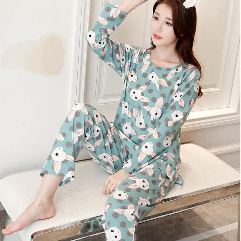 H.eternal Winter Pyjama Nightshirt Cartoon Train Top Supersoft Trousers Sleepwear Long Sleeve Loungewear Outfits Set for 1-6 Years Old Kid