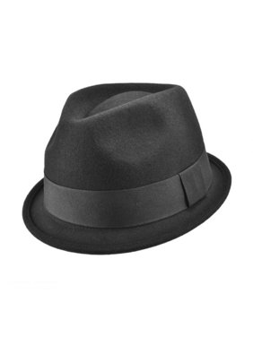 48b73b234f3e41 Product Image Dekker Crushable Wool Felt Trilby Fedora Hat - XL - Black