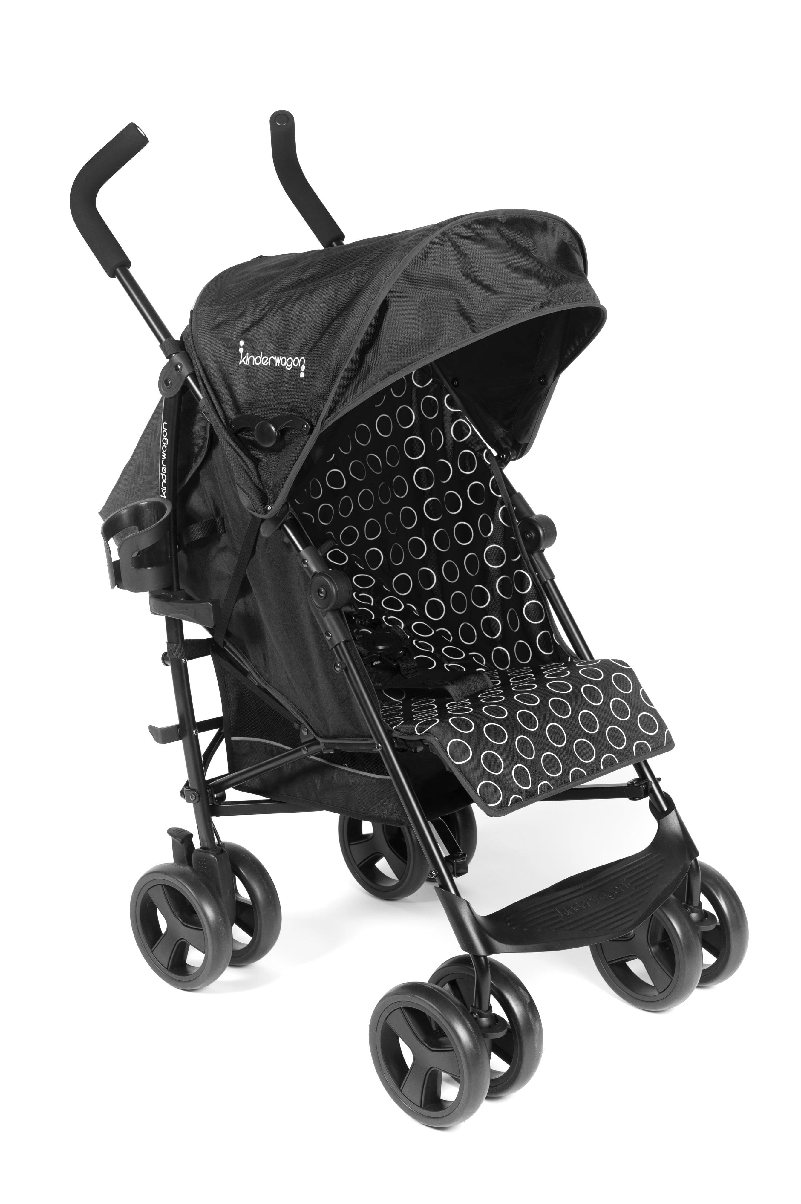Kinderwagon Skip Lightweight Single Umbrella Stroller Black by Kinderwagon