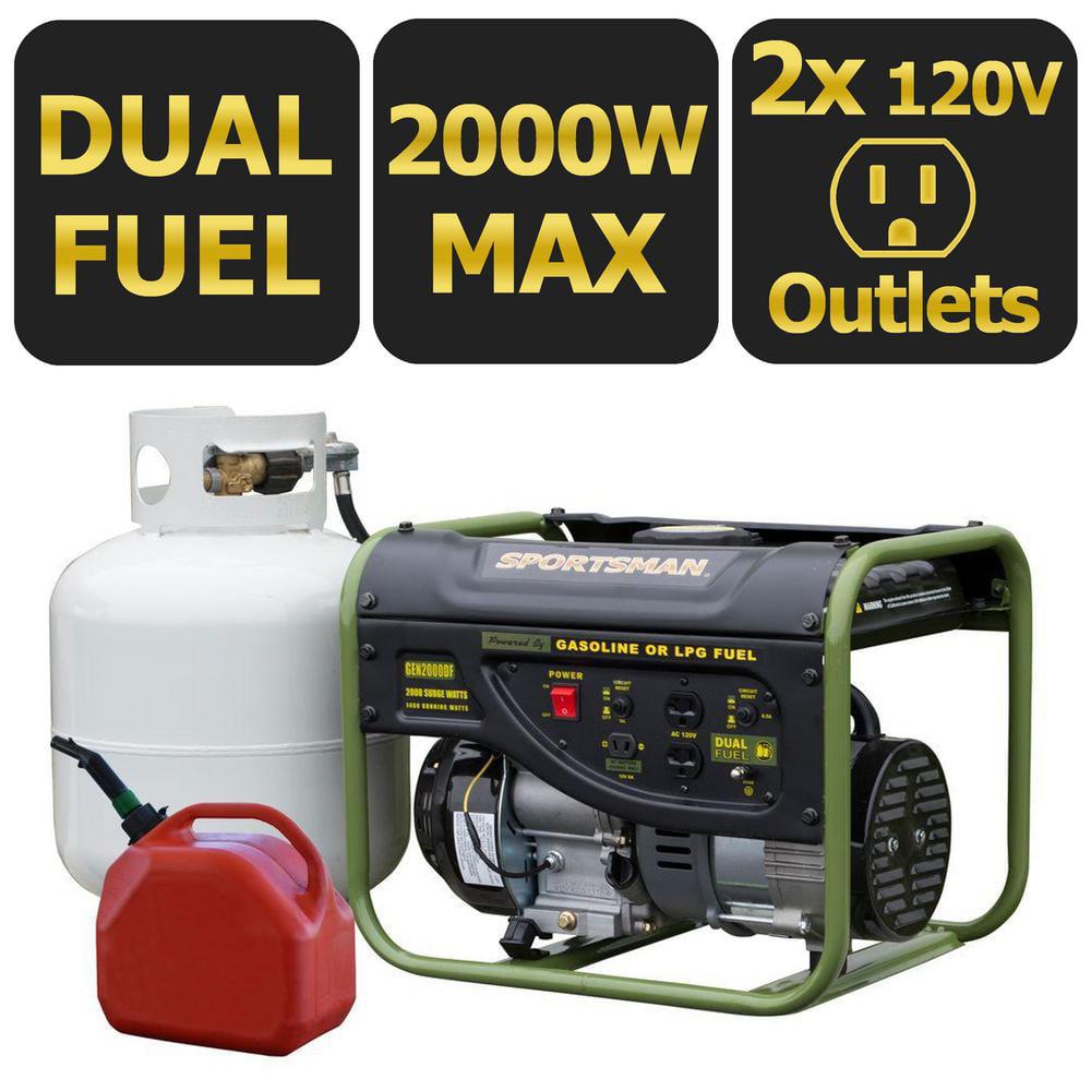 Sportsman 2000 Watt Dual Fuel Generator by Buffalo Corp