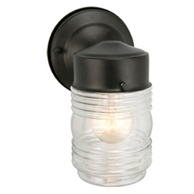 Jelly Jar Outdoor Downlight, 4.5 x 7.5 in. Black Finish