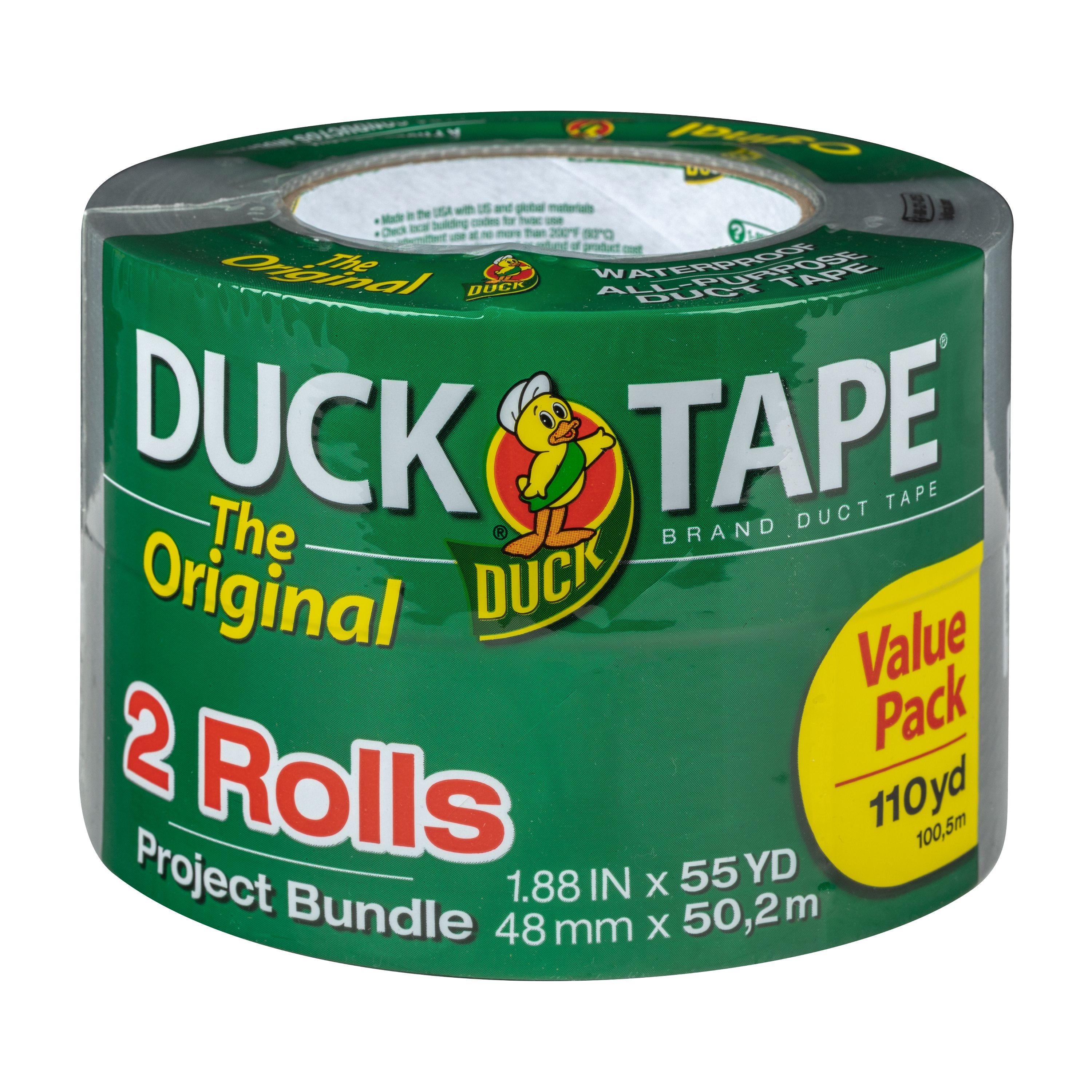 The Original Duck Tape® Brand Duct Tape - Silver, 2 pack, 1.88 in. x 55 yd.