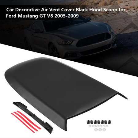 Mustang Air Vent - Hilitand Car Decorative Air Vent Cover Black Hood Scoop for Ford Mustang GT V8 2005-2009, Black Hood Scoop,Hood Scoop
