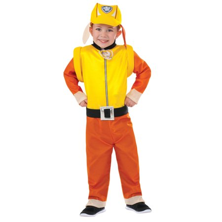 Paw Patrol: Rubble Classic Child Halloween Costume, Small (4-6) (Paw Patrol Halloween Pumpkin Carving)