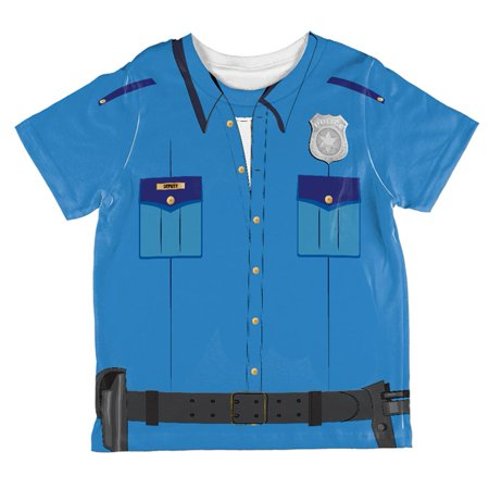 Halloween Patrol Blue Police Officer Costume All Over Toddler T Shirt](Lady Police Officer Costume)