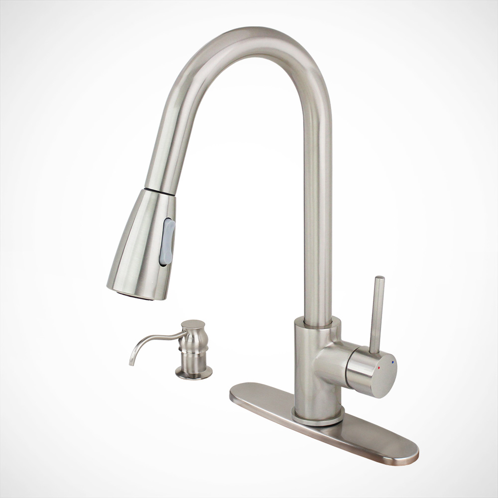"16"" Euro Modern Kitchen Sink Faucet Pull-Out Soap Dispens..."