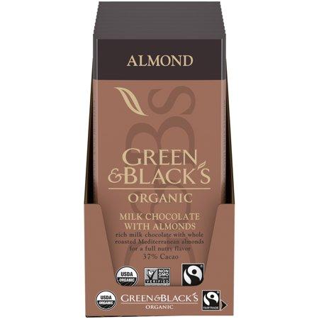Green & Black's, Organic Almond Milk Chocolate Bar, 3.17 Oz, (Pack of 10) Themed Chocolate Bar