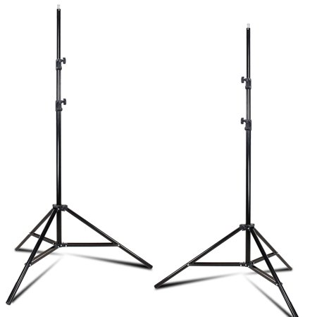 - Loadstone Studio 2-Pack Lighting Stand Tripod Max Height 96 inch, Enhanced Thicker Pole Construction Prevents Wobbling and Bending, 1/4–20 Standard Screw Thread on Top, WMLS2737