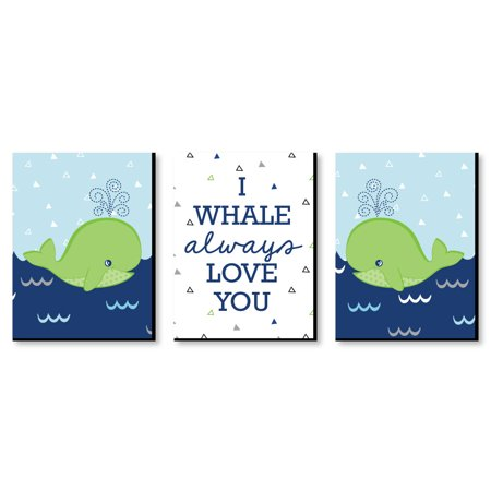 Tale Of A Whale Baby Boy Nursery Wall Art Kids Room Decor 7 5 X 10 Set 3 Prints