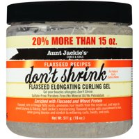 Aunt Jackie's Curls & Coils Flaxseed Recipes Don't Shrink Flaxseed Elongating Curling Gel 18 oz. Jar