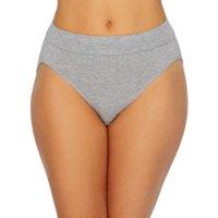 Bali Womens Incredibly Soft Hi-Cut Panty, 10, Seabottom Blue, 10