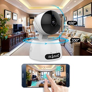 INSMA 1080P/HD Camera Wireless IP Camera with 2 Way Audio Motion Detect, Night Vision, Smart APP for for Pet Baby Monitor, Home Security Camera Motion Detection Indoor Camera (Pets Camera)