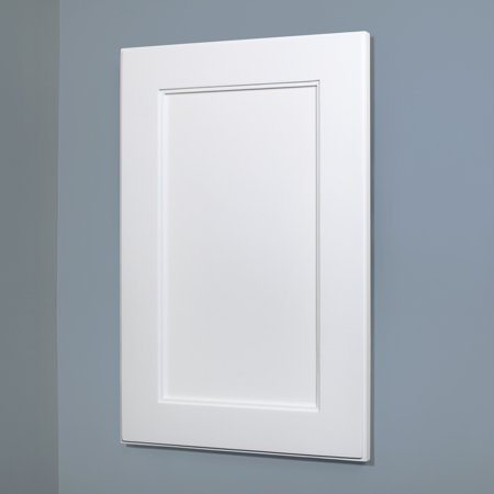 14x24 White Shaker Style Recessed Medicine Cabinet With No Mirror