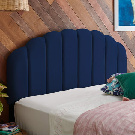 Velvet Tufted Scallop Headboard, Multiple Colors and Sizes by Drew Barrymore Flower Home ()