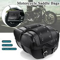 2pcs Custom Motorbike Motorcycle Heavy Duty Leather Touring Panniers Saddlebags
