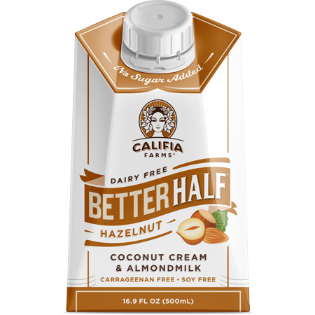 Calories Hazelnut Creamer (Califia Farms Better Half Hazelnut 16.9oz )