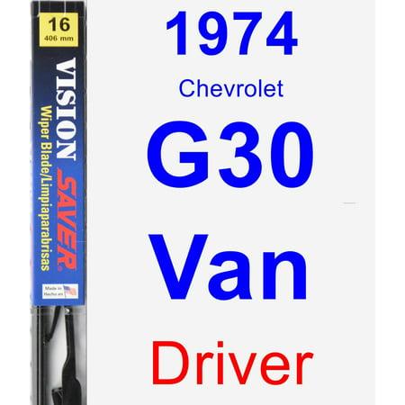 - 1974 Chevrolet G30 Van Driver Wiper Blade - Vision Saver