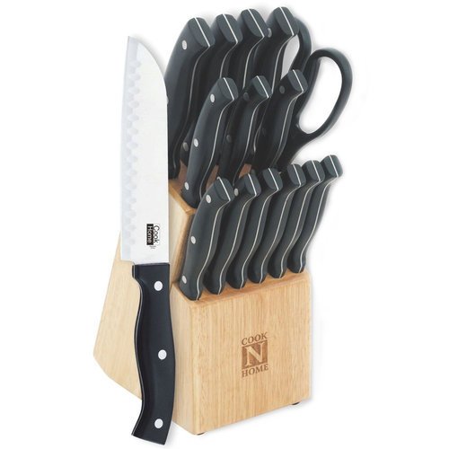 Cook N Home 15-Piece Professional Cutlery Set with Storage Block