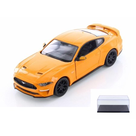 Diecast Car & Display Case Package - 2018 Ford Mustang GT Hard Top, Orange - Showcasts 79352OR - 1/24 Scale Diecast Model Toy Car w/Display Case