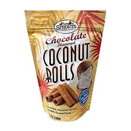 Pack of 3 - Sprouts Chocolate Coconut Rolls, 3.5 OZ Chocolate Roll Cookies