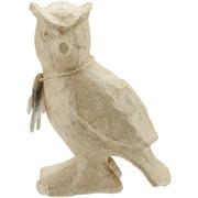 "Paper-Mache Figurine 4.5""-Owl"