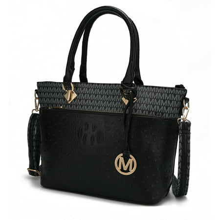 MKF Collection Grace Signature and Croc Embossed Tote Bag by Mia K. Farrow