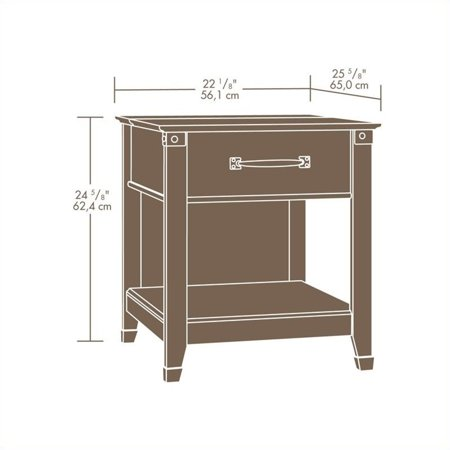 Sauder Carson Forge Smartcenter Side Table In Washington Cherry Image 1 Of 6