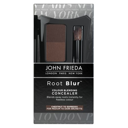 John Frieda Root Blur Root Concealer Dual Shade Mineral-pressed Powder Compact Dark Chestnut to Espresso Brunettes,