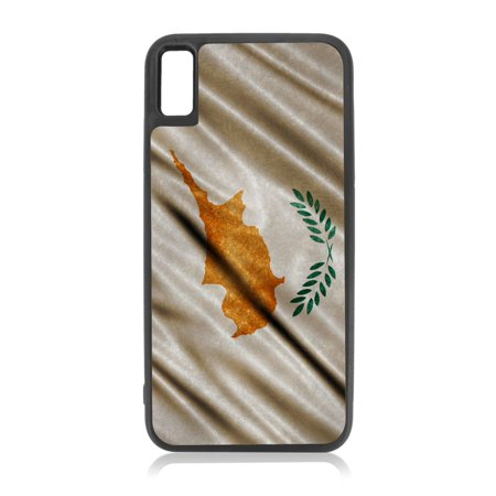 Cyprus Waving Flag Black TPU Rubber Case Cover for the Apple iPhone 10 / iPhone X / iPhone XS - iPhone 10 Case - iPhone X Case - iPhone XS Case