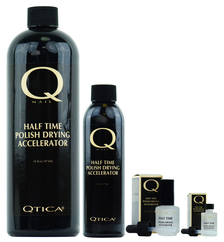 Nail Supplements: Qtica Half Time Polish Drying Accelerator (Size : 16 oz refill)