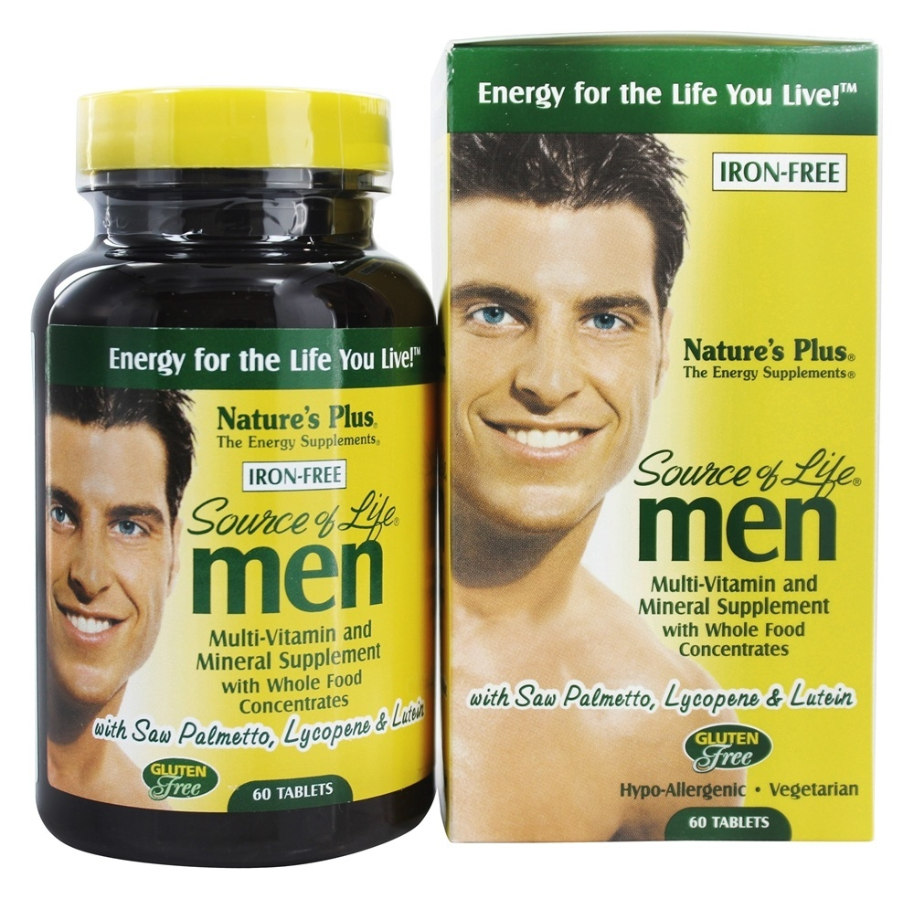 Natures Plus - Source Of Life Men's Multi-Vitamin - 60 Tablets
