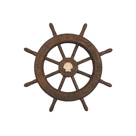 The Flying Dutchman Ghost Ship (Flying Dutchman Ghost Pirate Ship Wheel With Seashell 18