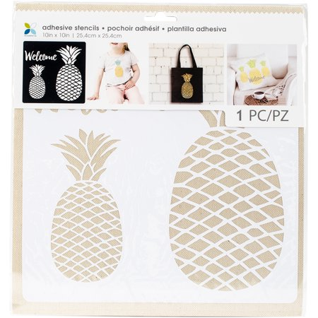"Momenta Adhesive Stencils 10""X10""-Pineapple Pattern"