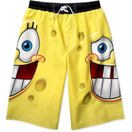 764791b5e6fcf Nickelodeon - Nickelodeon - Boys' SpongeBob SquarePants Swim Trunks ...