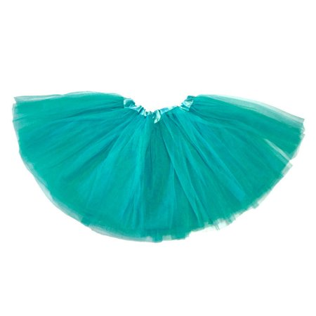 Little Girls Tutu 3-Layer Ballerina Teal - Blue Tutu For Adults