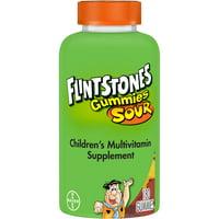 Flintstones Sour Gummies Kids Vitamins, Multivitamin for Kids, 180 Ct