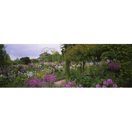 Flowers in a Garden, Foundation Claude Monet, Giverny, France Print Wall Art By Panoramic Images
