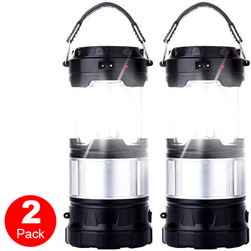 2 Pack Collapsible 30 LED Lanterns Light Emergency Outdoor Hiking Camping Lamps