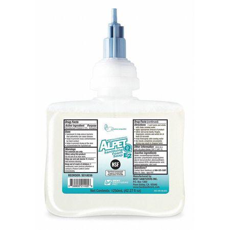 BEST SANITIZERS, INC. Foam Hand Soap,1250mL, Unscented,PK6