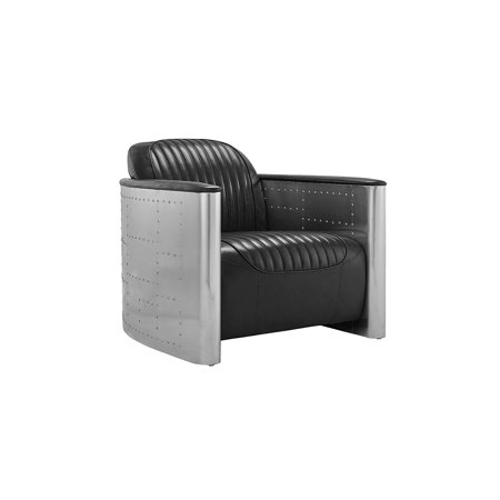 Groovy Accent Chair For Living Room Leather Chairs With Metal Foundation Modern And Industrial Style Black Lamtechconsult Wood Chair Design Ideas Lamtechconsultcom
