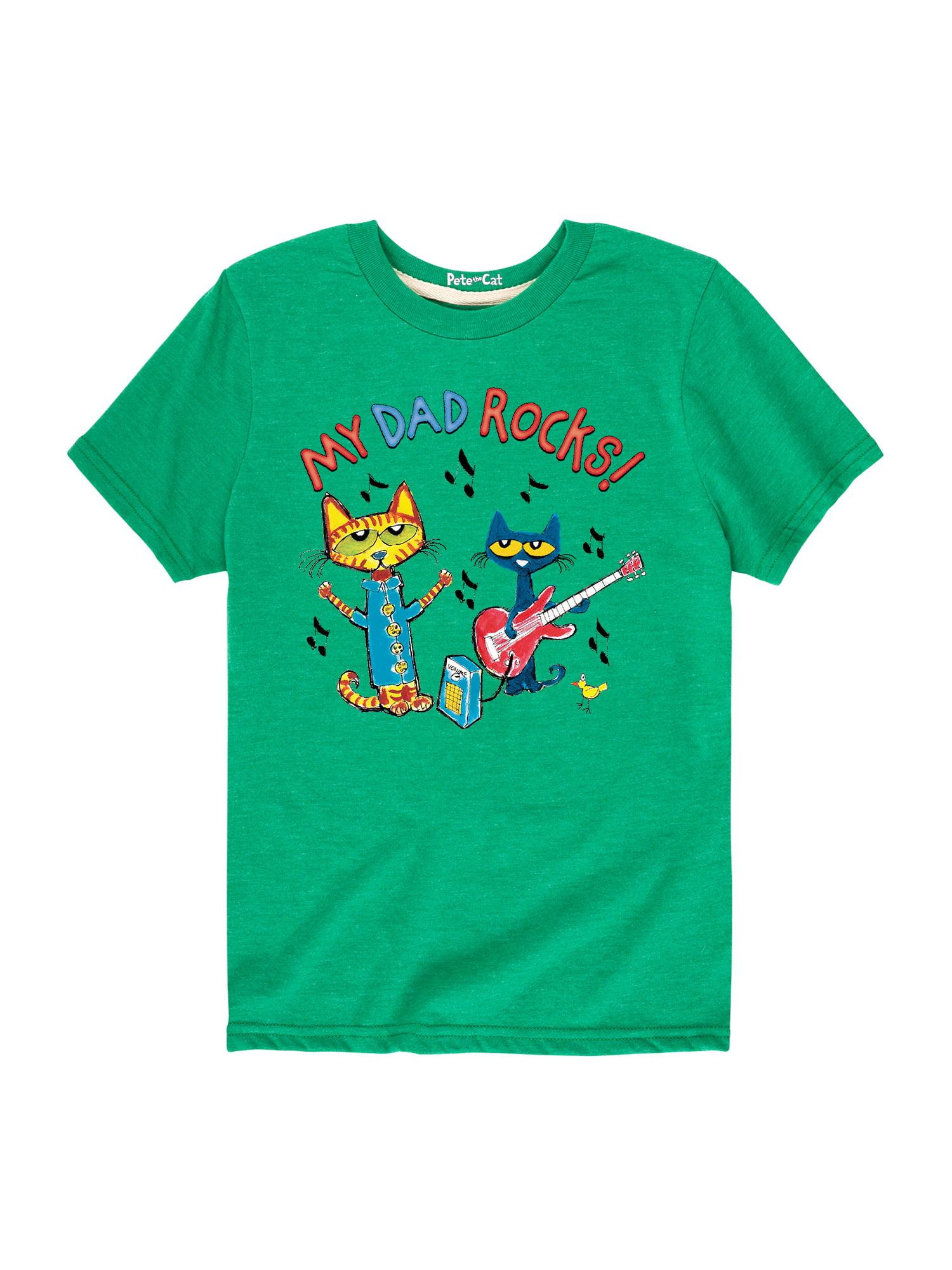 Pete The Cat My Dad Rocks - Toddler Short Sleeve Tee