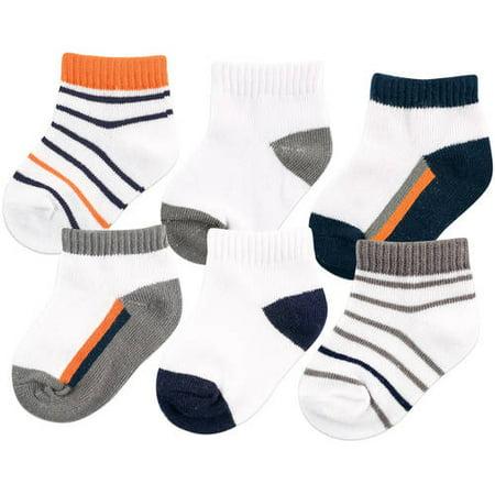 Baby Boy Socks, 6-Pack (Baby Layette Socks)