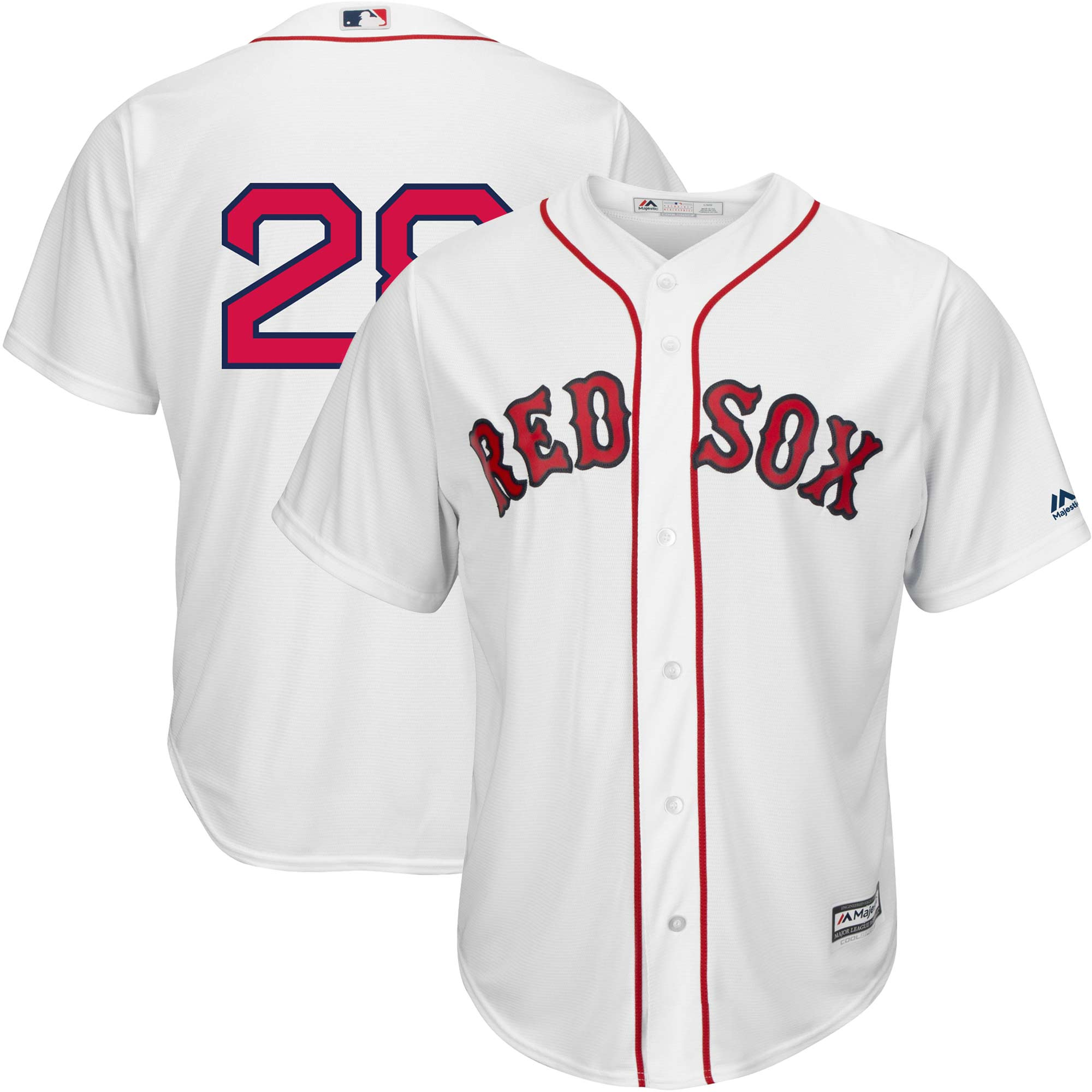 J.D. Martinez Boston Red Sox Majestic Home Official Cool Base Replica Player Jersey - White