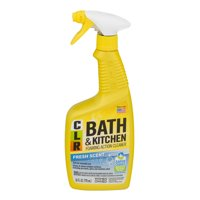 CLR Bath & Kitchen Cleaner Enhanced Formula Multi-Surface Cleaner Fresh Scent 26 Oz