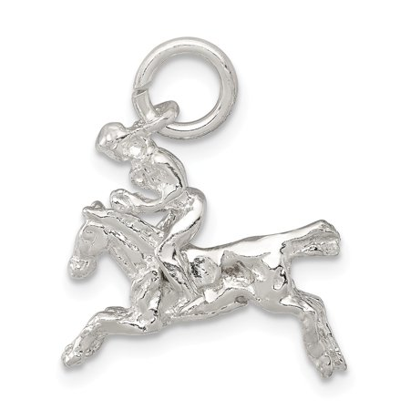 FB Jewels Sterling Silver Moveable Bronco Charm
