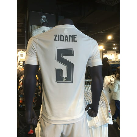 Framed Art for Your Wall Jersey Zidane Legend Real Madrid Fan Store Shop 10x13 Frame
