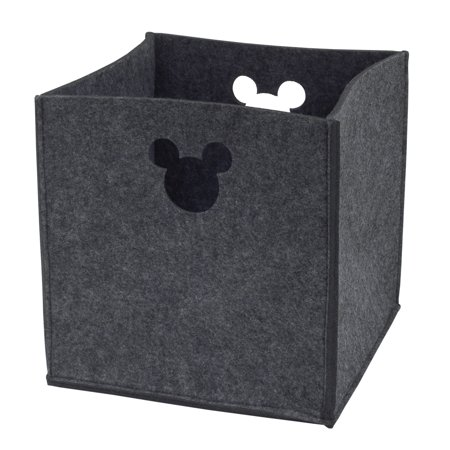 Disney Baby Mickey Mouse Grey Felt Storage Bin