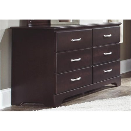 Carolina Furniture Works 475600 Dresser Double 6 Drawer Espresso