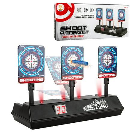 【LNCDIS】Electronic Digital Scoring Target for Guns, Auto Reset Scoring Shooting Target (Hovering Target Shooting Game)